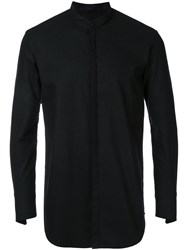 Strateas Carlucci Stand Shirt Men Linen Flax Wool S Black