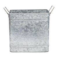 Amara Rectangular Galvanised Bucket With Handles