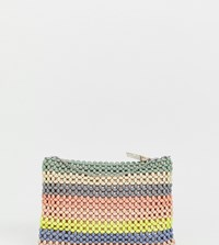 Accessorize Multi Resin Beaded Clutch Bag With Chain Strap