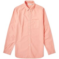 Nonnative Dweller Over Dyed Button Down Oxford Shirt Pink
