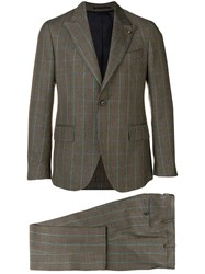 Gabriele Pasini Check Two Piece Suit Brown