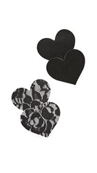 The Natural Heart Lace Nipple Covers Black