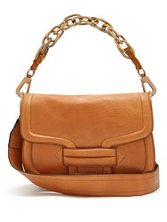 Pierre Hardy Alphaville Grained Leather Shoulder Bag Tan