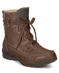 Sporto Kona Lace Up Hiker Booties Women's Shoes Brown