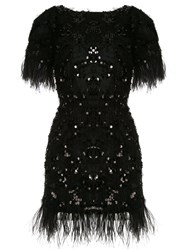 Macgraw Feather Trimmed Sequined Dress 60