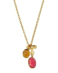 Indulgems Mixed Quartz And Flower Charm Necklace Multi