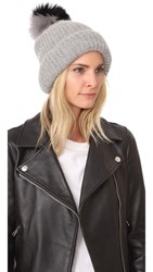 Eugenia Kim Maddox Pom Pom Hat Light Grey