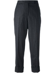 Thom Browne Classic Backstrap Trouser In Wool Flannel Grey
