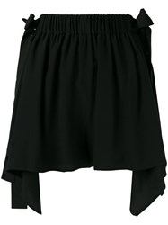 Fendi Scalloped Handkerchief Hem Shorts Black