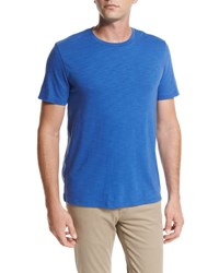 Vince Slub Cotton Crewneck T Shirt Bright Blue