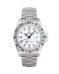 Pre Owned Rolex Stainless Steel Explorer Ii Watch With White Dial 42Mm White Silver