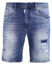Antony Morato Fredo Denim Shorts Blu Denim Destroyed Denim