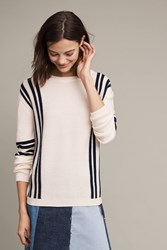 Anthropologie Breton Wool Sweater Cream