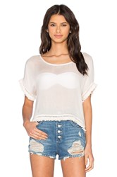 Wildfox Couture Short Sleeve Tee Cream