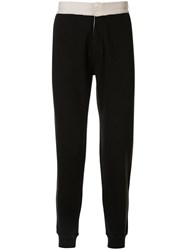Kent And Curwen Two Tone Track Trousers Black