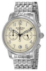 Brooks Brothers 'Red Fleece' Chronograph Bracelet Watch 42Mm Silver Ivory