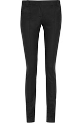 Proenza Schouler Wool And Cashmere Blend Skinny Pants Black