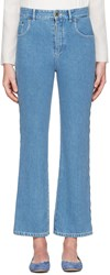 Chloe Blue Scalloped Flared Jeans