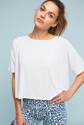 Anthropologie Cross Backed Top White
