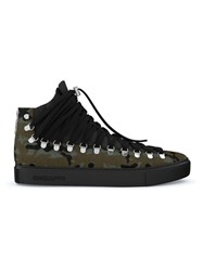 Swear Redchurch Hi Top Sneakers Calf Leather Suede Calf Hair Rubber Green