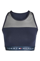 Topshop Bralet By Tommy Hilfiger Navy Blue