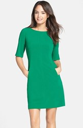 Tahari Women's Seamed A Line Dress Emerald Green