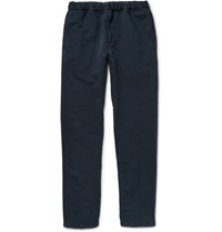 Nn.07 Justin Linen And Cotton Blend Trousers Blue
