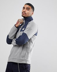 Element Sweat With Contrast Panels In Grey Grey