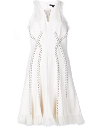 Alexander Wang Ring Piercing Tweed Dress White