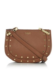 Biba Stud Detail Crossbody Bag Tan