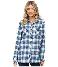 Volcom Desert High Long Sleeve Top Dark Navy Women's Long Sleeve Button Up