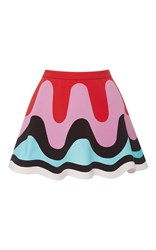 Emilio Pucci Flounced Mini Retro Skirt Multi