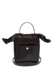 Sophie Hulme Knot Nano Leather And Satin Bag Black