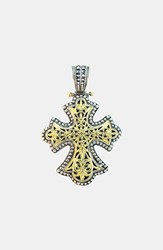Konstantino Women's 'Classics' Two Tone Cross Pendant Silver Gold
