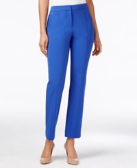 Charter Club Straight Leg Ankle Pants Only At Macy's Blazing Blue
