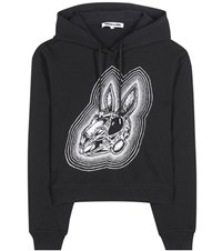 Mcq By Alexander Mcqueen Printed Cotton Hoodie Black