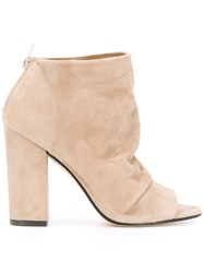 Marc Ellis Open Toe Boots Nude Neutrals