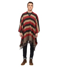 Brixton Vanguard Poncho Red Black Scarves