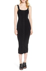 Trouve Hook And Eye Sweater Dress Black