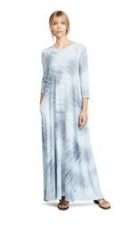 Raquel Allegra 3 4 Sleeve Drama Maxi Dress Lunar Tie Dye