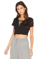 Nytt Lace Up Tee Black