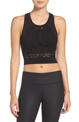 Alo Yoga Women's Vixen Crop Tank Black