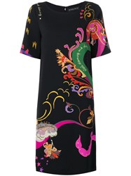 Etro Short Sleeved Printed Dress Black