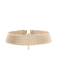 Krizia Collar Fitted Necklace Metallic