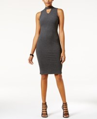Fire Juniors' Cutout Bodycon Dress Grey