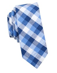 Original Penguin Matteo Plaid Tie Blue
