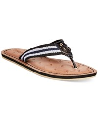 Nautica Gulf Breeze Flip Flops Women's Shoes Black