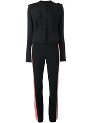 Haider Ackermann Lateral Stripes Jumpsuit Black