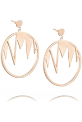 Arme De L'amour Rose Gold Plated Hoop Earrings