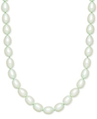 Honora Style Mint Cultured Freshwater Pearl Necklace In Sterling Silver 7 8Mm